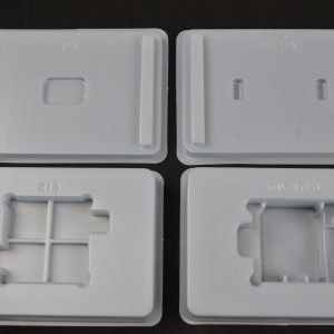 dissipative thermoformed component packaging- IPA cleanable and reusable